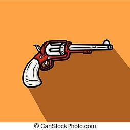 Retro Pistol Vector