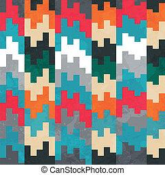 retro pixels seamless pattern
