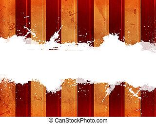 retro, plano de fondo, con, beige, y, rojo, líneas, y,...