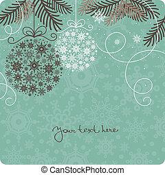 retro, plano de fondo, navidad
