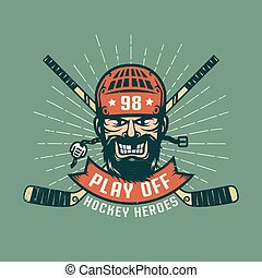 Retro playoff logo