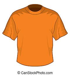 retro, podstawowy, t-shirt