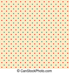 Retro polka dots seamless pattern