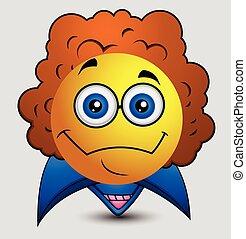 Retro Pop Star Emoji Vector - Retro Pop Star Emoji Emoticon...