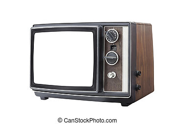 Retro Portable Television with Clut Out Screen