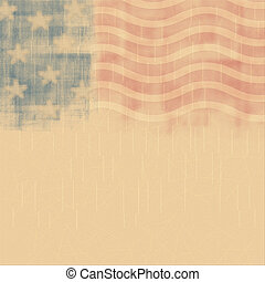 Retro poster background for Memorial Day