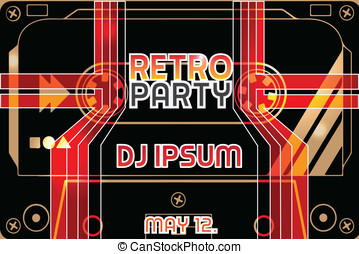 Retro Poster Party Flyer