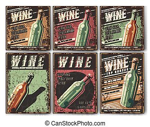 Retro poster wine.