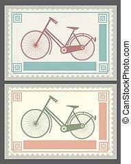 retro, postzegels