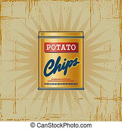 Retro Potato Chips Can