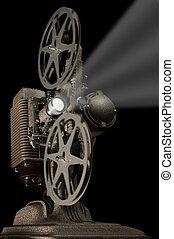 Retro Projector - Worm\'s eye view of a retro movie...