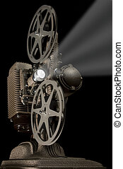 Retro Projector - Worm\'s eye view of a retro movie...