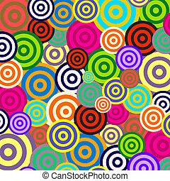 retro, psychedelic, achtergrondmodel, radiaal