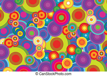 Disco Circles - Retro Psychedelic Disco Circles Background