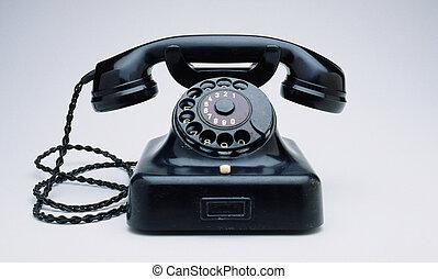 retro, rada, telefon