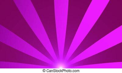 Retro radial background, purple tint. Seamless loop. HD Resolution