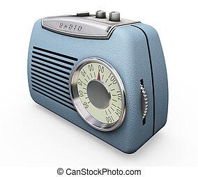 3D render of a retro radio
