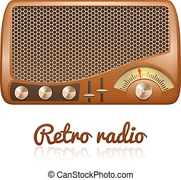 Retro Radio Illustration