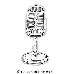 retro radio microphone
