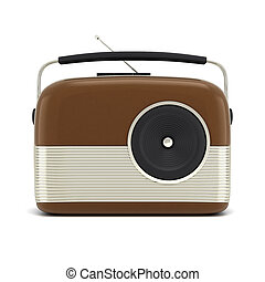 picture of retro radio on a white background