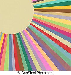 Retro Rainbow Summer Sunbeams