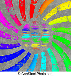rainbow swirl logo - sun or globe