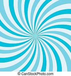 Retro ray background blue color. Vector illustration