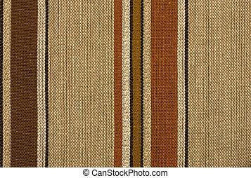retro, rayado, tejido, de lana, textil, plano de fondo, o, textura