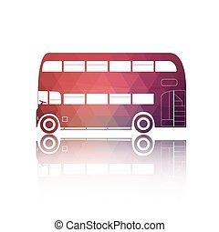 Retro red bus