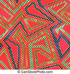 retro red color seamless pattern with grunge effect