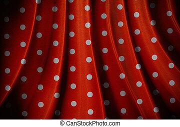retro red polka dot pattern