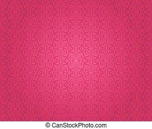 Retro red vintage wallpaper