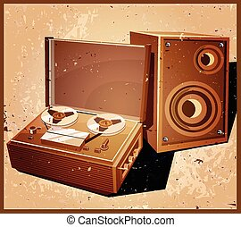 retro reel tape recorder