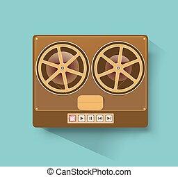 retro reel-to-reel recorder