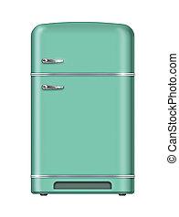 retro, refrigerador