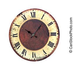 retro, reloj
