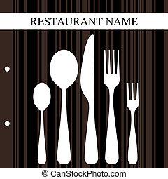retro, restaurant, ontwerp