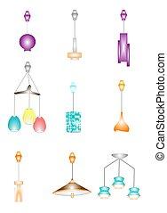 retro retractable ceilng lamps