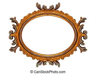 Retro Revival Old Ellipse Frame - Old Oval Picture Frame on...