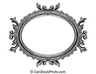 Retro Revival Old Ellipse Frame - Old Oval Picture Frame on ...
