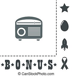 Retro revival radios tuner vector illustration. - Retro...