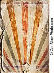 Retro revival sunbeam poster background in colour
