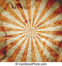 Retro revival sunbeam poster background in red