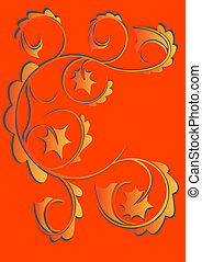 vector drawing designs for wallpaper. easily edited color pattern and background