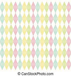 retro rhombus pattern design