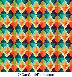 retro, rhombus, seamless, padrão