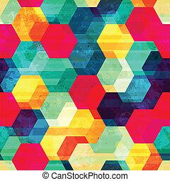 retro rhombus seamless texture