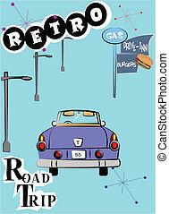 retro road trip