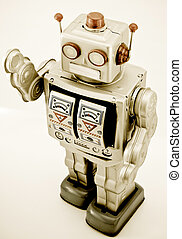 robot toy - retro robot toy in retro color