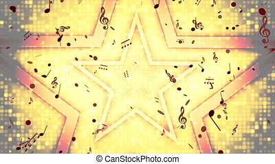 Retro Rock Star Looping Background